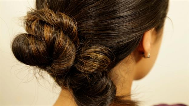Fall Beauty How-To: Knotted Updo